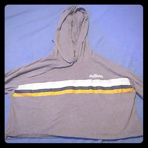Gray Hollister hoodie crop top